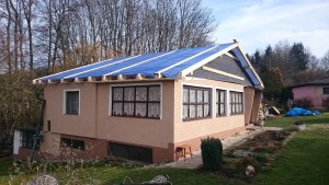 Rekonstrukce chaty Šlovice 2016